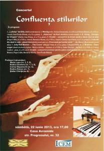Concert Confluenta stilurilor 22 iunie