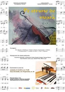 afis concert 8 decembrie 2012