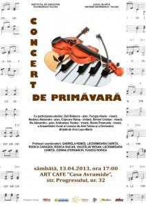 concert de primavara 2013